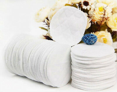 20x Bamboo Reusable Breast Pads Nursing Maternity Organic Plain Washable MA 5