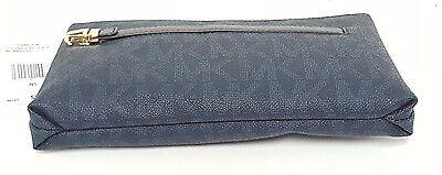 34a657b52b2307 ... Michael Kors Charlton Signature Baltic Blue Medium Wristlet Clutch  Purse NWT 4