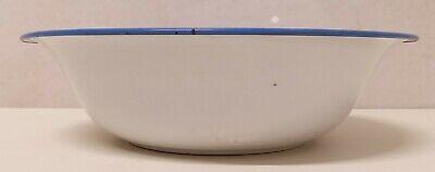 Antiguo Cuenco Emailleschüssel Decoración de Rociadura Azul Blanco Arte 20er Año 8