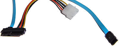 Strom Kabel 7 Pin SATA Serial ATA zu SAS 29 Pin & 4 Pin Molex HDD SSD Adapter 2