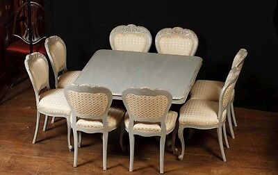 Set 8 French Provincial Painted Dining Chairs Rustic Furniture 2