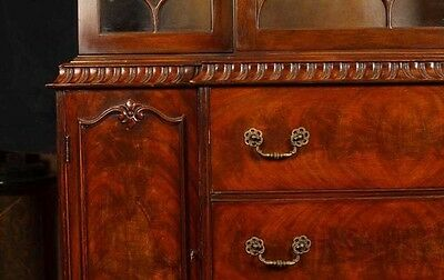 Victorian Gothic Breakfront Bookcase Mahogany Bookcases Chippendale 9