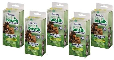 TropiClean Clean Teeth Gel For Dogs Promotes Strong Teeth & Healthy Gums 4 oz 7