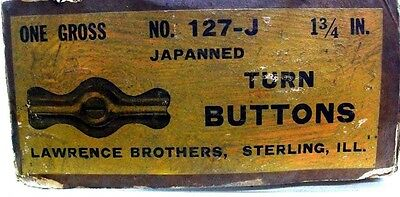 Lot Of 4 Nos Vintage Cupboard Turn Buttons Jelly  Stamped Steel Japanned Dm 7