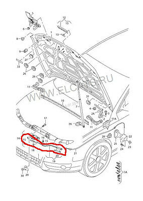 AUDI A4 S4 A5 S5 B8 Hood Latch Release Cable Line Lock REAR 09-15 OEM 8T1823535