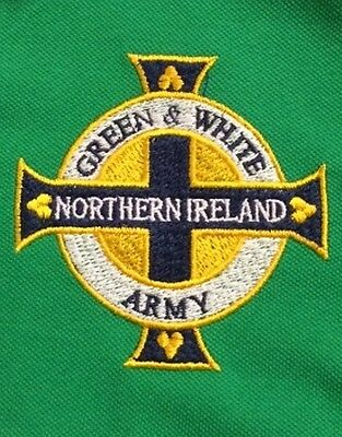 New Northern Ireland 'Green & White Army' Embroidered Polo Shirt 2