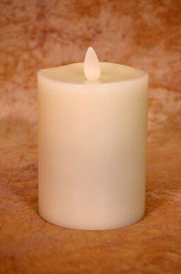 NEW Liown LightLi Moving Flameless Candle Ivory Wax Pillar 3x4 inch