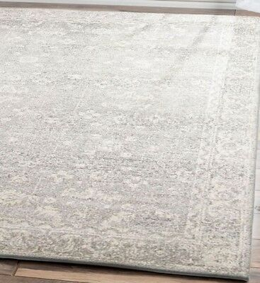 Hallway Runner Hall Rug Silver Carpet Mat Traditional Designer 3,4,5 Meters Long