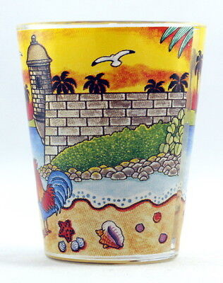 Cuba Sunset Glass Shotglass 3