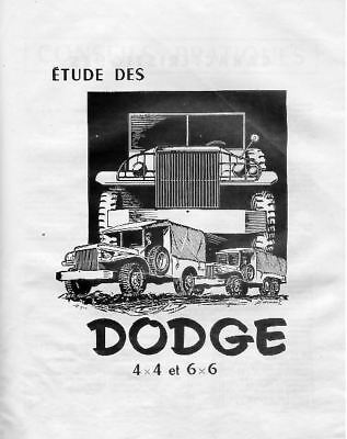 40 guides techniques DODGE WC 51 à 63  sur CD ROM