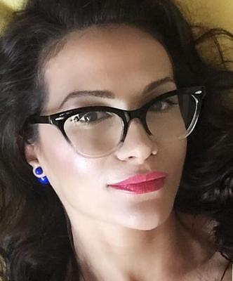 a1de789036488 ... Sexy Cat Eye Pin up Ombre Demi Kitti Eyeglasses Glasses Gradient  Vintage Frames 8