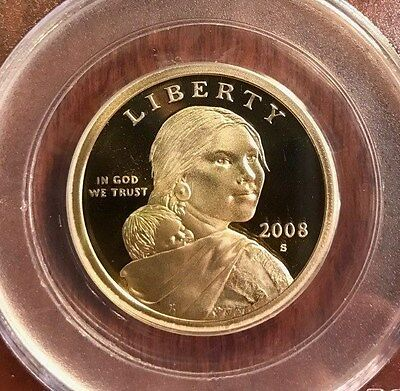 2008-S Sacagawea US Dollar Proof PCGS PR69 DCAM (Deep Cameo Finish) $ coin 2