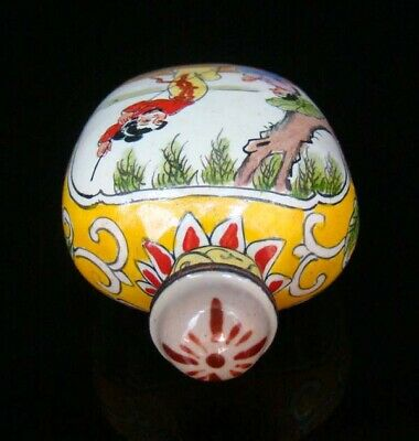 Collection 100% Handmade Painting Brass Cloisonne Snuff Bottles People 021 7