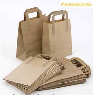 20 X Medium Brown Kraft Craft Paper Sos Carrier Bags 80Gms Food Take Away Bag 3