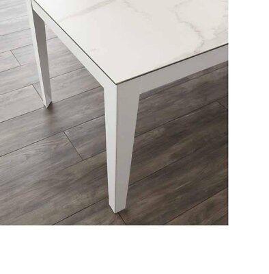 Tavolo ceramicato in ferro e cemento da 153x93 cm
