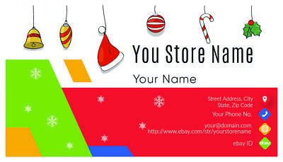 500 EBAY SELLER Personalized Business Cards-FREE SHIPPING-Glossy or Matte 8