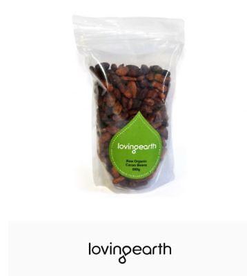 3 x 500g LOVING EARTH Raw Organic Cacao Beans 1.5kg