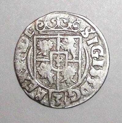 1626 Medieval Poland, Sigismund III. (1587-1632) AR 3 Polker