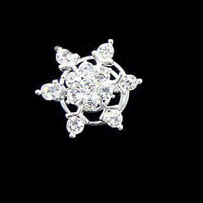 10 Curlies Haarnadeln Schneeflocken klar Hochzeit Straß Tiara Sterne Haarschmuck