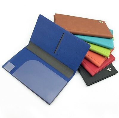 RFID Travel Wallet Passport Cover Holder Ticket Organiser Protector Leather Case 4