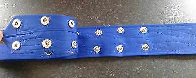 Sikh Nihang Singh Khalsa Adjustable Belt Kamarkasa Loop Royal Blue Waist Belt 2 • EUR 9,81