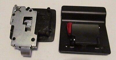 TRIMARK 060-0251 BLACK RV Trailer Entry Door Latch Deadbolt Handle Lock  Keys Kit