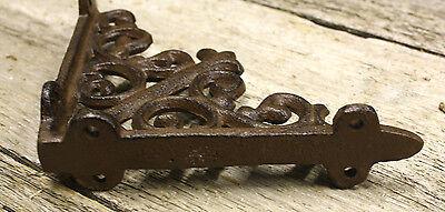 2 Cast Iron Antique Style HD Brackets Garden Braces RUSTIC Shelf Bracket 2