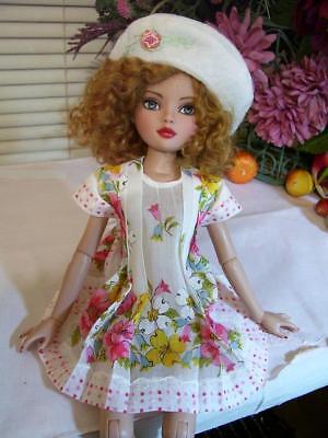 """Hanky Dress, Hat  PATTERN for 10"""" to 16"""" Dolls  Little Darling,  Bleuette, 8"""