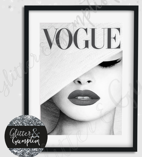 Art Prints Art Fashion Vogue Print Art Vogue Cover Pink Or Grey Beauty Room Wall Decor Art Print Zsco Iq