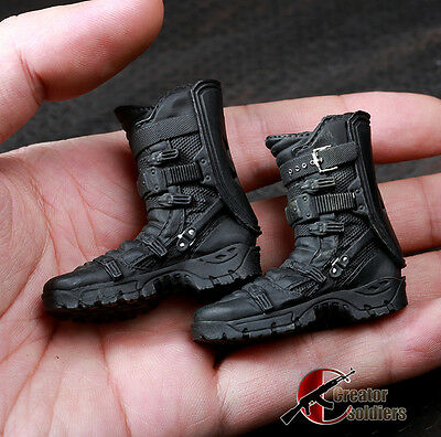 """1//6 Scale Male Long Boots Brown Shoes Solid F 12"""" Strong Action Figure Toy"""
