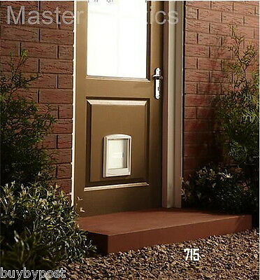 New Model Staywell PetSafe White Small Pet Dog Door Or Cat Flap 715 3
