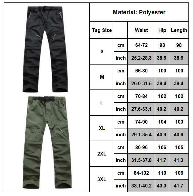 Men Tactical Trousers Waterproof Hiking Climbing Sport Combat Cargo Work Pants 10