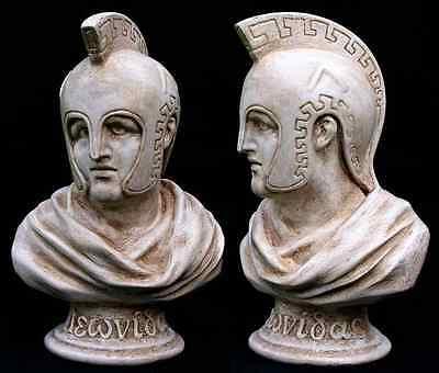 Leonidas King of Sparta. Greek Sculpture 3D Bust Statue 26 cm Made in Sydney 2