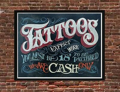 Tattoo Shop Policy Print  Must art decor print vintage style ink Must be 18 2