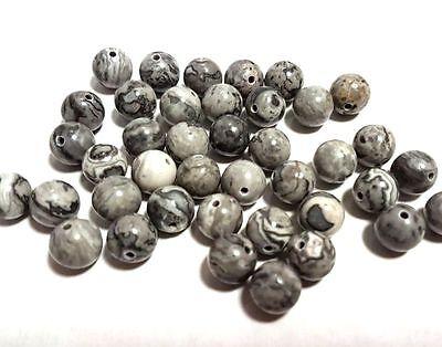 Sardonyx Schwarz weiß matt 6-8 mm 1 Strang BACATUS Edelsteine Perlen #4976