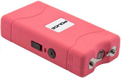 POLICE Stun Gun 800 Pink Mini Rechargeable LED Flashlight 2