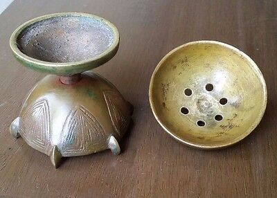 Beautiful Antique Chinese incense burner - solid brass.