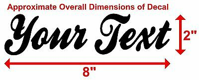 CUSTOM TEXT Vinyl Decal Sticker Car Window Bumper YOUR Personalized Lettering 3
