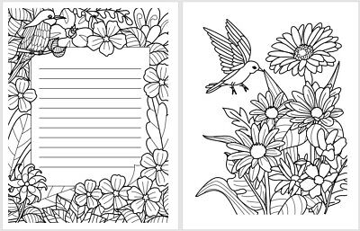 Livre De Coloriage Fleurs Livre A Colorier Pour Adultes Anti Stress Eur 6 90 Picclick Fr
