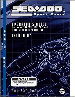 Sea-Doo Islandia Jet Boat Service Repair Shop & Operator's Manual CD  --  SeaDoo