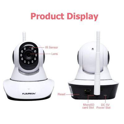 Mingfuxin 720P HD C/ámara IP inal/ámbrica de seguridad para el hogar WiFi monitor de beb/é con visi/ón nocturna movimiento y control de APP Talla:1080P
