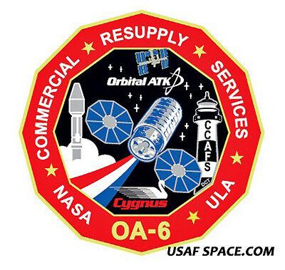 ISS NASA COMMERCIAL RESUPPLY ORIGINAL PATCH OA-7 Cygnus Mission ORBITAL ATK