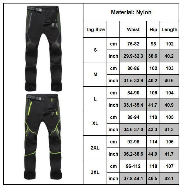 Men Tactical Trousers Waterproof Hiking Climbing Sport Combat Cargo Work Pants 8