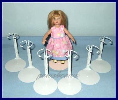 """12 White Kaiser Doll Stands for 8/"""" SHIRLEY TEMPLE  9/"""" Patsyette U.S.SHIPS FREE"""