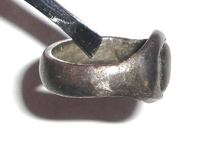Ancient Roman Empire, 1st - 3rd c. AD. Silver ring with white stone 3 • CAD $316.21