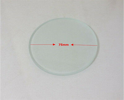 1PC 75-100mm Stereo Microscope Specimen Stage 4mm Thickness Frosted Glass Plate 3