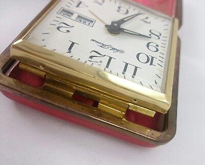 Vintage SETH THOMAS PHINNEY WALKER Light Alarm Portable Clasp Pocket Clock Pair 11