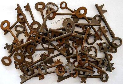 Rusty ornate Skeleton 1800's keys 50 pc lot steampunk #220750 2