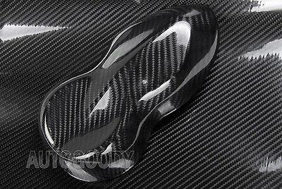 7D Premium Super Gloss Black Carbon Fiber Vinyl Wrap Bubble Free Air Release 6D 7