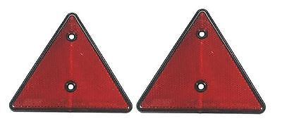 2x Triangle Red Reflectors Screw Fit Rear Pair for Trailers Caravans Gatepost 2